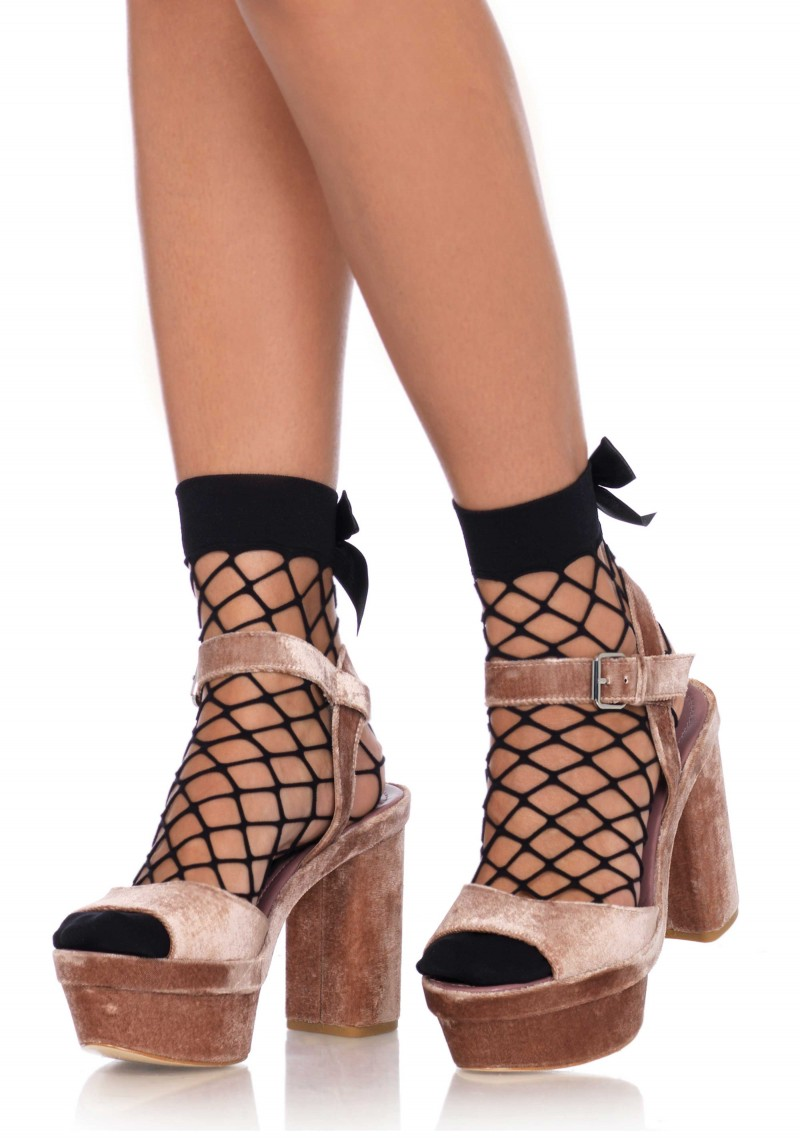 Net anklets w.bow top
