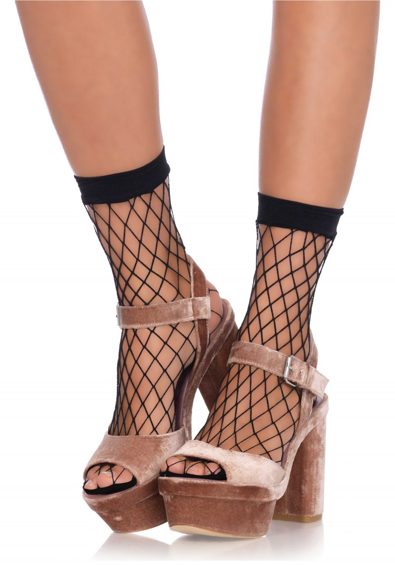 Diamond net anklets bl