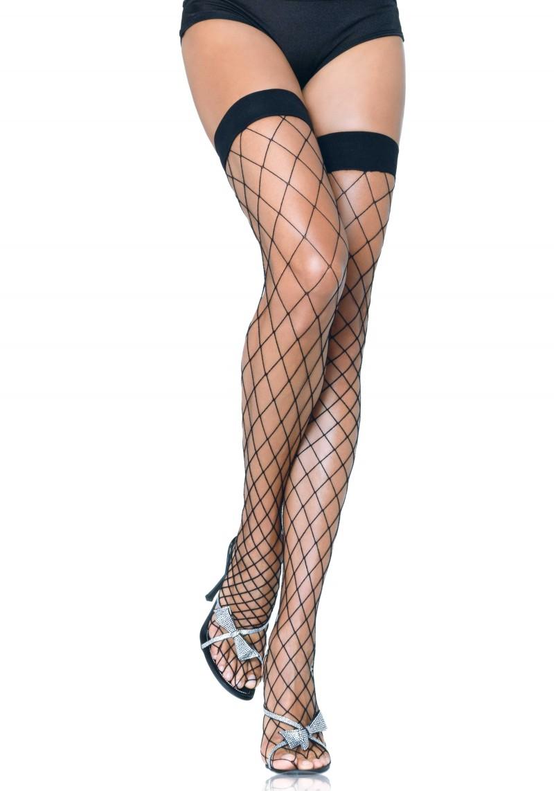 Fence net thigh highs