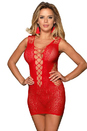 Audrey Robe dress red