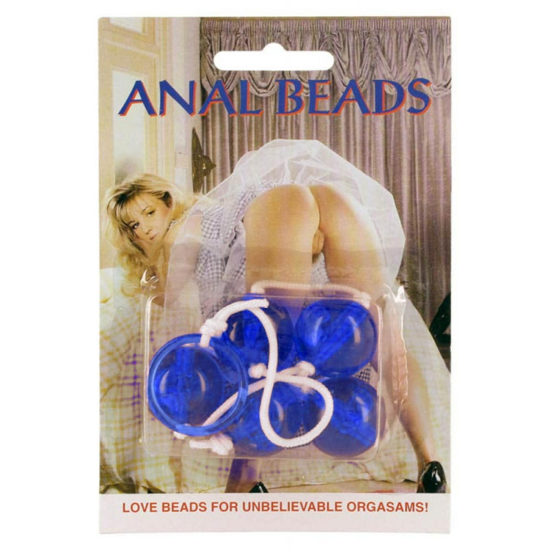Anal beads blue large