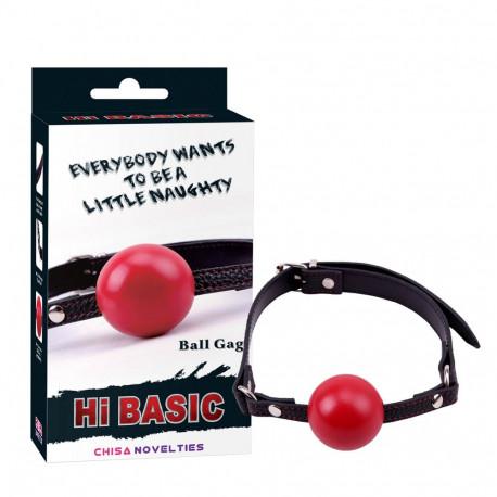 Hi-basic ball gag red
