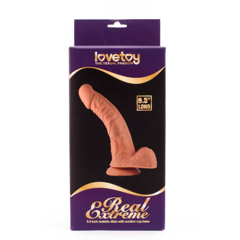 Real Extreme dildo 8,5 curved