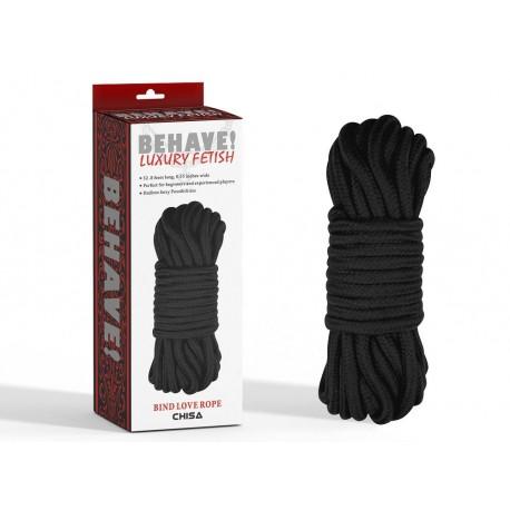 Bind love rope black